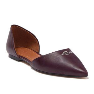 Coach Pointed Toe Leather d'Orsay Flat - NEW